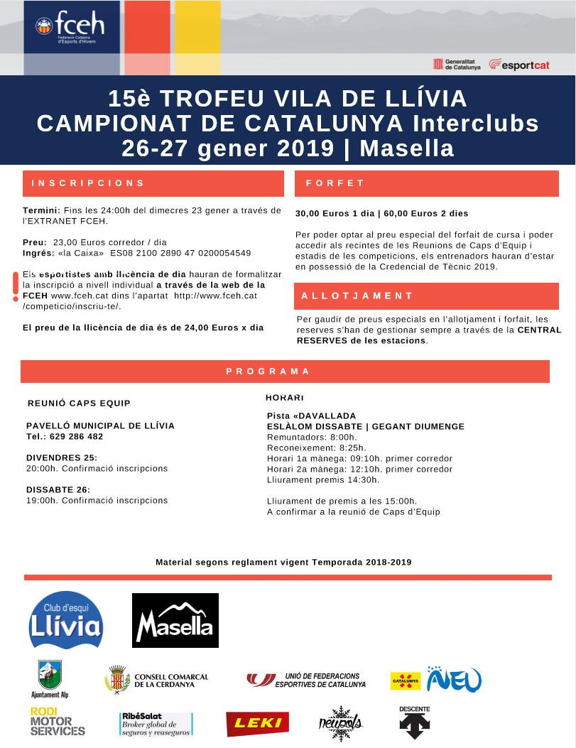 PROPERA CURSA INTERCLUBS – 15è Trofeu Vila de Llívia (MASELLA)